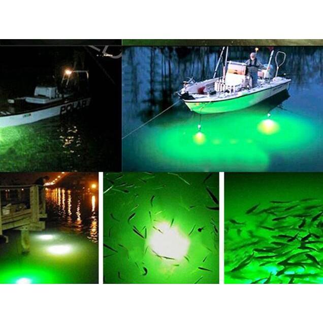 1Pc//set 12V Led White Green Underwater Submersible Night Fishing Light 48//96 LSK