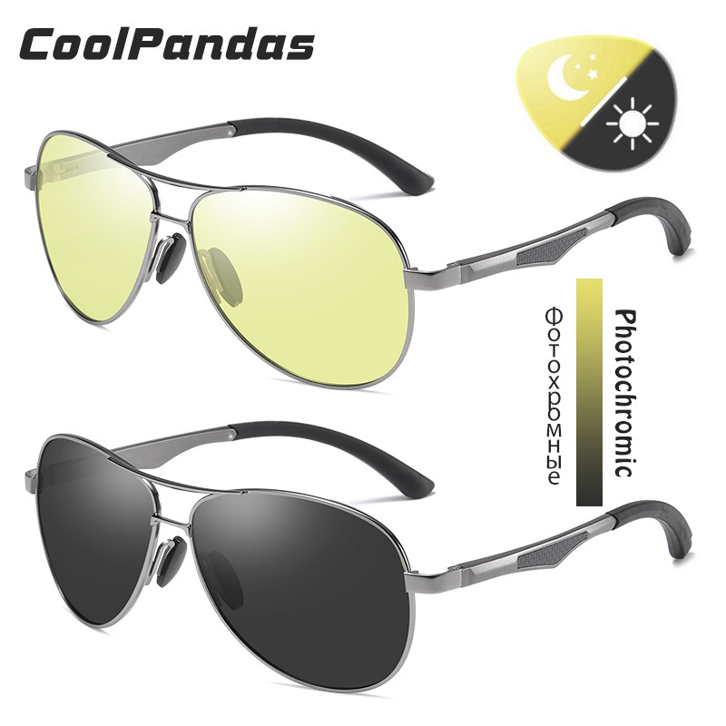 เลดี้แว่นกันแดด☜US $13.19 70% OFF|2020 Aviation Driving Photochromic Sunglasses Men Polarized Glasses Women Day Night V
