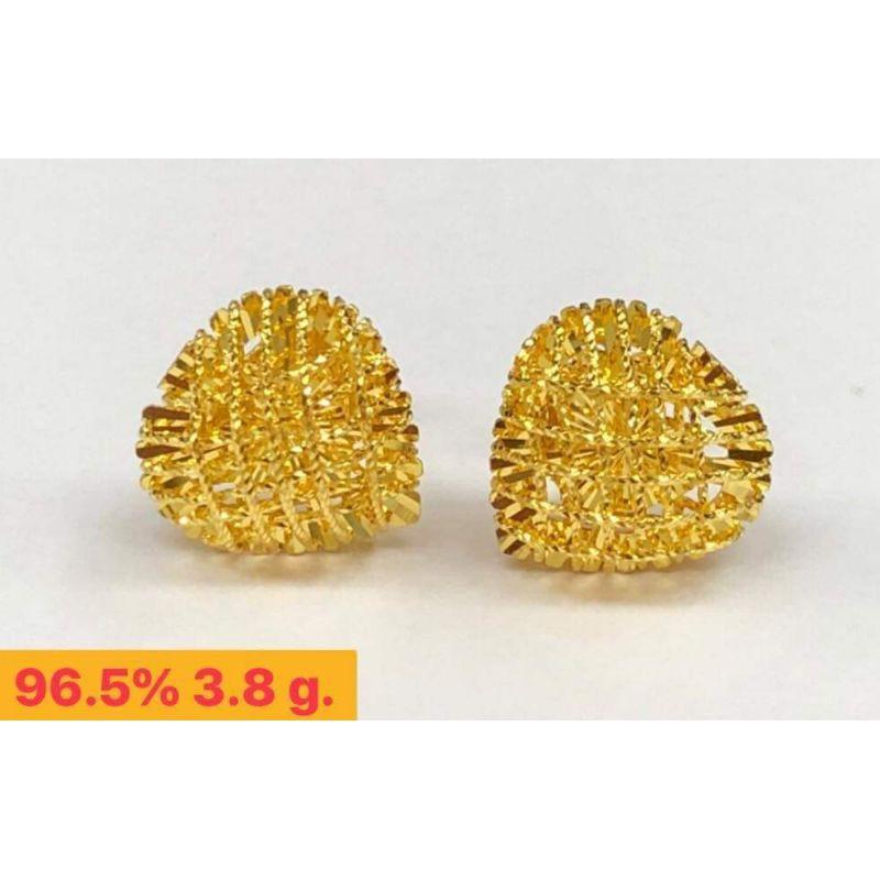 ต่างหูทองแท้ 96.5%  น้ำหนัก1สลึง  ราคา 8,150บาท