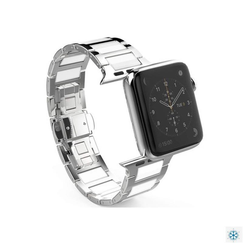 สายนาฬิกาข้อมือสแตนเลสสําหรับ Apple Watch 6 5 4 Se 44mm 40mm Band Iwatch Series 3 2 42mm 38mm
