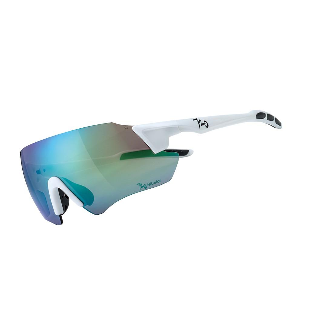 แว่นตากันแดด 720armour รุ่น Kamikaze Plus สีกรอบ Matte White สีเลนส์ HC Violet Green