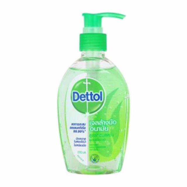 Dettol เจลล้างมืออนามัย ขนาด 50 ml และ 200 ml สูตรหอมสดชื่น ผสมอโลเวร่า