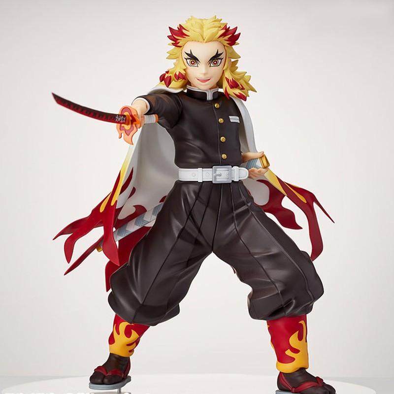 รูป:20cm Anime Kimetsu No Yaiba Figure VIBRATION STARS Rengoku Kyoujurou Action Figure Demon Slayer Kochou Shinobu Figur