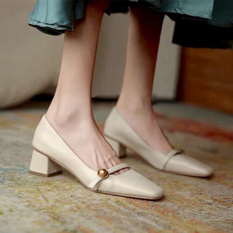 รองเท้าส้นสูง❤️รองเท้าผู้หญิง💖รองเท้าคัชชู💖รองเท้าส้นแก้ว💖รองเท้าคัทชูผู้หญิงรองเท้าส้นสูงแฟชั่น รองเท้าส้นสูง ส้นตัน