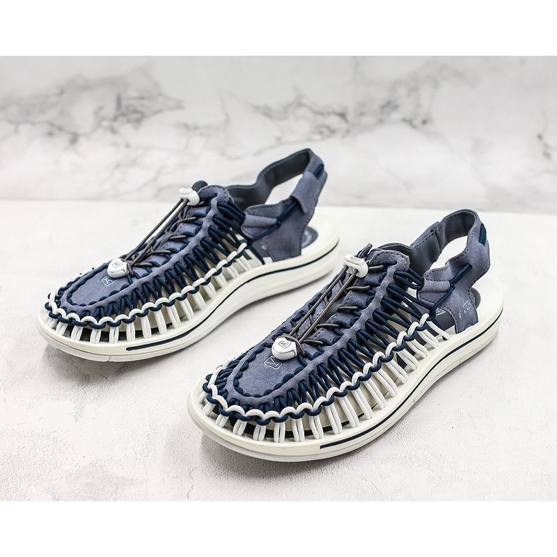 แท้จริง Keen Uneek Flat-M ซัมเมอร์บีชรองเท้าแตะสีน้ำเงิน wading white รองเท้าแตะรองเท้าแตะส้นแบนรองเท้าลำลอง 38-45