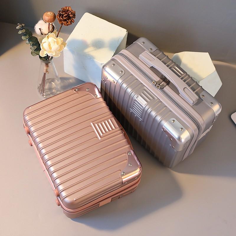 นิ้ว กระเป๋าลาก กระเป๋าเดินทางล้อคู่ แข็งแรง ยืดหยุ่นสูง น้ำหนักกรณีเครื่องสำอาง14กระเป๋าถือนิ้วมินิน่ารัก16นิ้วน้ำหนักเ