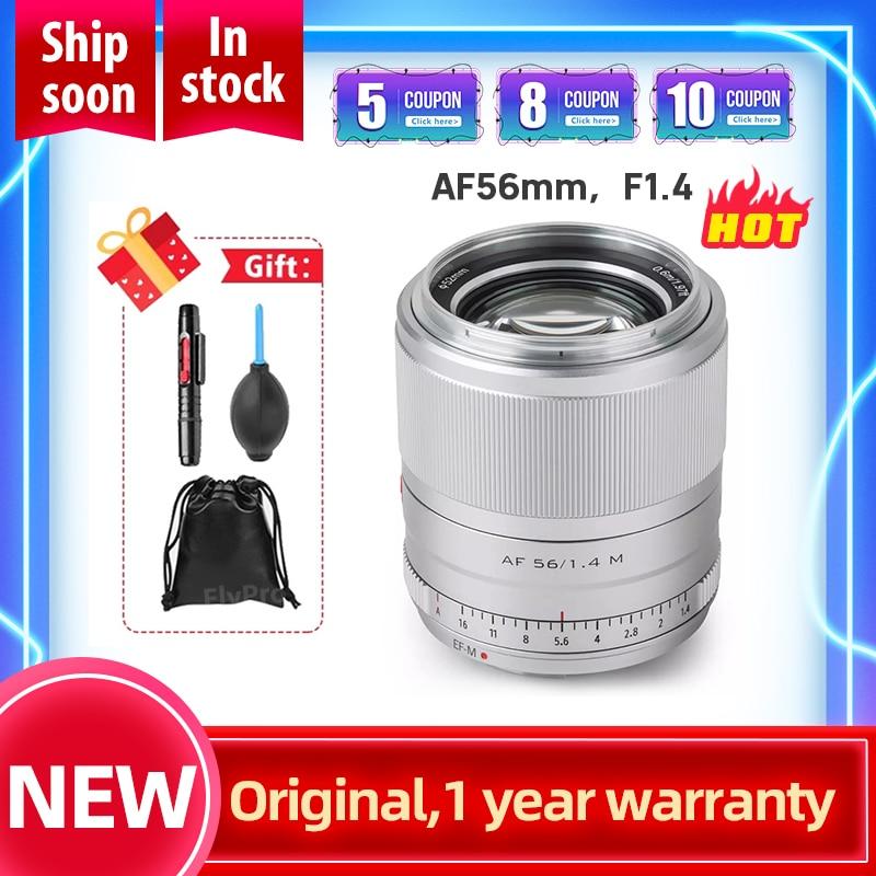 Viltrox 56mm f1.4 EF-M Large Aperture Autofocus Portrait Lens APS-C Prime Lens for Canon EOS M Cameras M5 M10 M100 M200 M50 M6