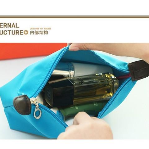 ✘ถุงเก็บเครื่องสำอางเกี๊ยวขนมเกาหลี, กระเป๋าใส่เครื่องสำอางแบบพกพา, กระเป๋าเดินทางใบเล็ก, กระเป๋าเครื่องสำอางกันน้ำ