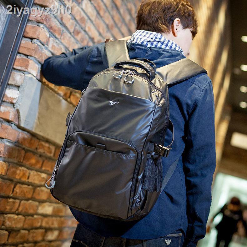 ✼✲﹍Septwolves กระเป๋าเป้ผู้ชาย การเดินทางเพื่อธุรกิจผู้ใหญ่กระเป๋าเป้ใบเล็กพักผ่อนคอมพิวเตอร์ความจุขนาดใหญ่แนวโน้มนักเ