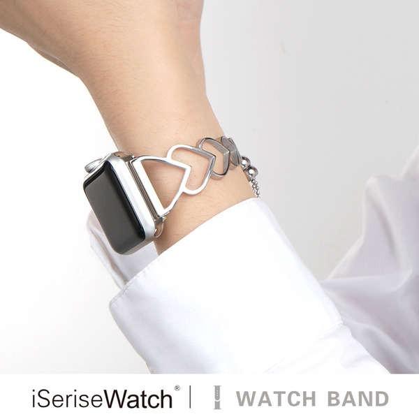 สาย applewatch iserisewatch เหมาะสำหรับสายเหล็ก iwatch6, สาย apple watch se, สาย applewatch 5/4/3 / รุ่น 38/42/44 / 40mm