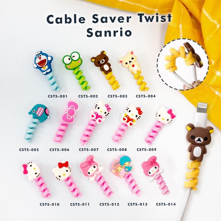 【COD】Cartoon Cable Saver ตัวป้องกันสายเคเบิลเกลียว / Twist Cable Android ของ Apple