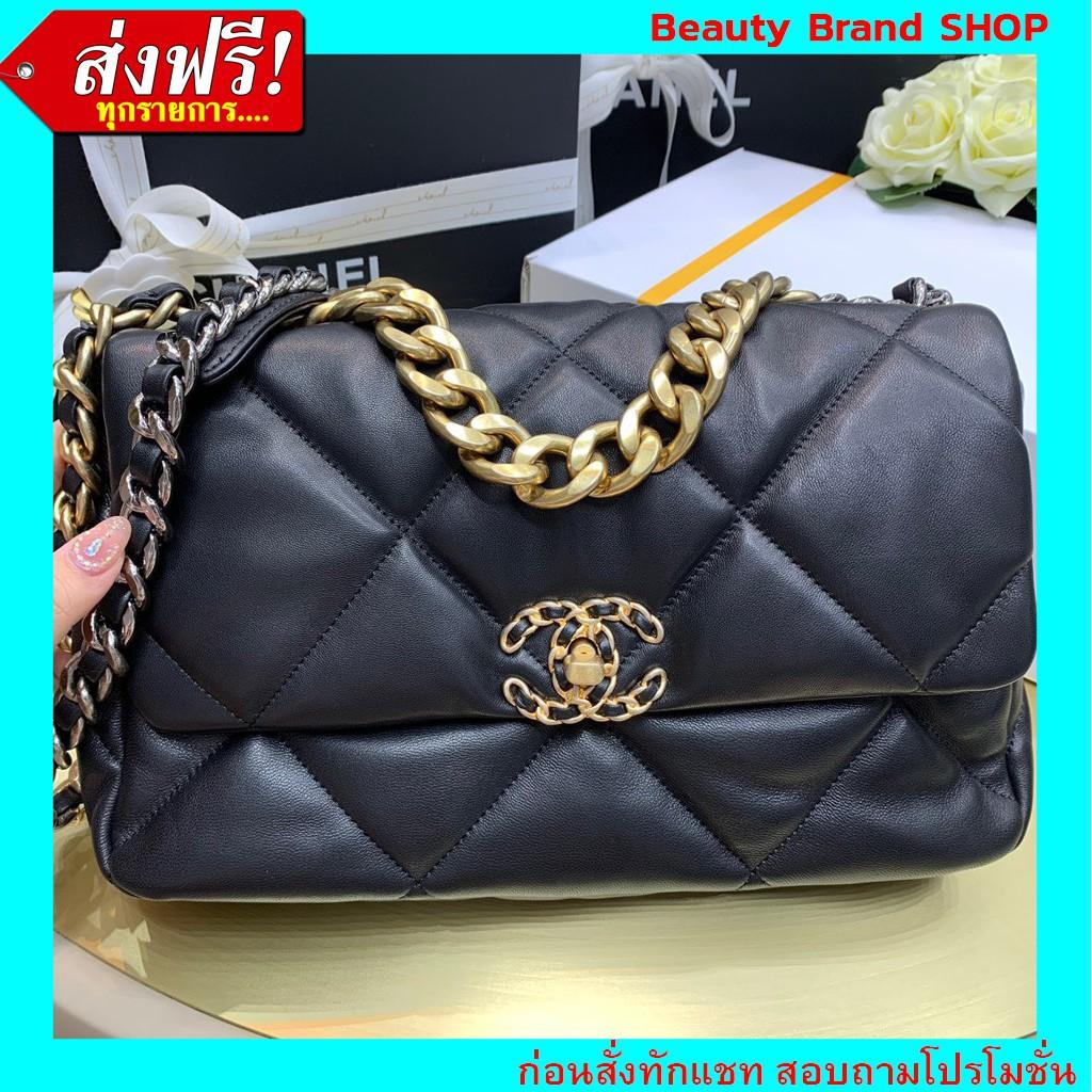 🔥  ราคาส่ง งานตรงปก เป๊ะมาก 🔥 Chanel Flap19 Bag Original Grade Full Set Option  หนังแท้ 100%