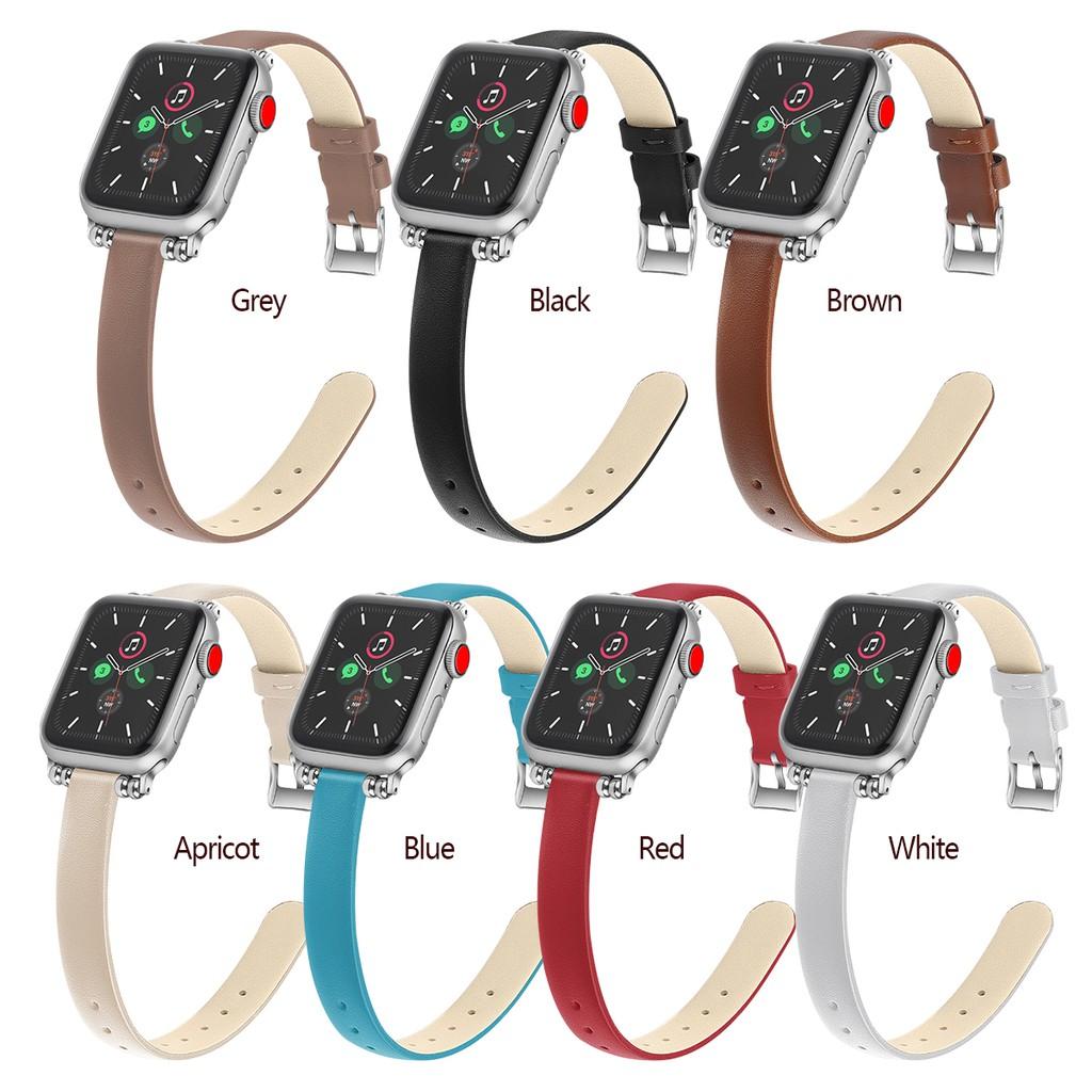 ายนาฬิกาข้อมือ Apple Watch สายหนัง 38mm 42mm 40mm 44mm iWatch Series6 SE 5 4 3 2 1 Leather strap