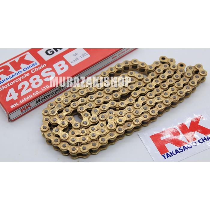 โซ่ RK 428 โซ่ RK ทองนอกใน ราคา600 ยาว132L