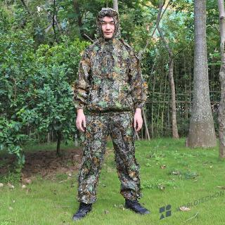 3D Leaves Hunting Clothes Bionic Ghillie Suits Sniper Camouflage Clothing