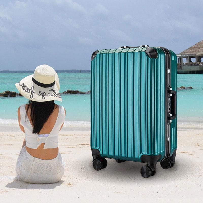 กระเป๋าเดินทางขนาด 20-24 นิ้ว โครงอะลูมิเนียม อลูมิเนียม วัสดุ ABS+PC