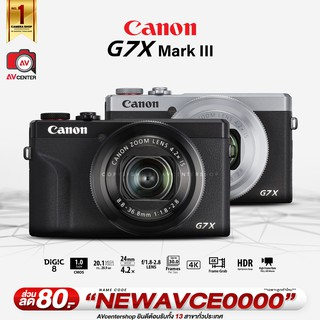 Canon Camera G7X Mark3 III  **เมนูไทย  [รับประกัน 1 ปี By AVcentershop]