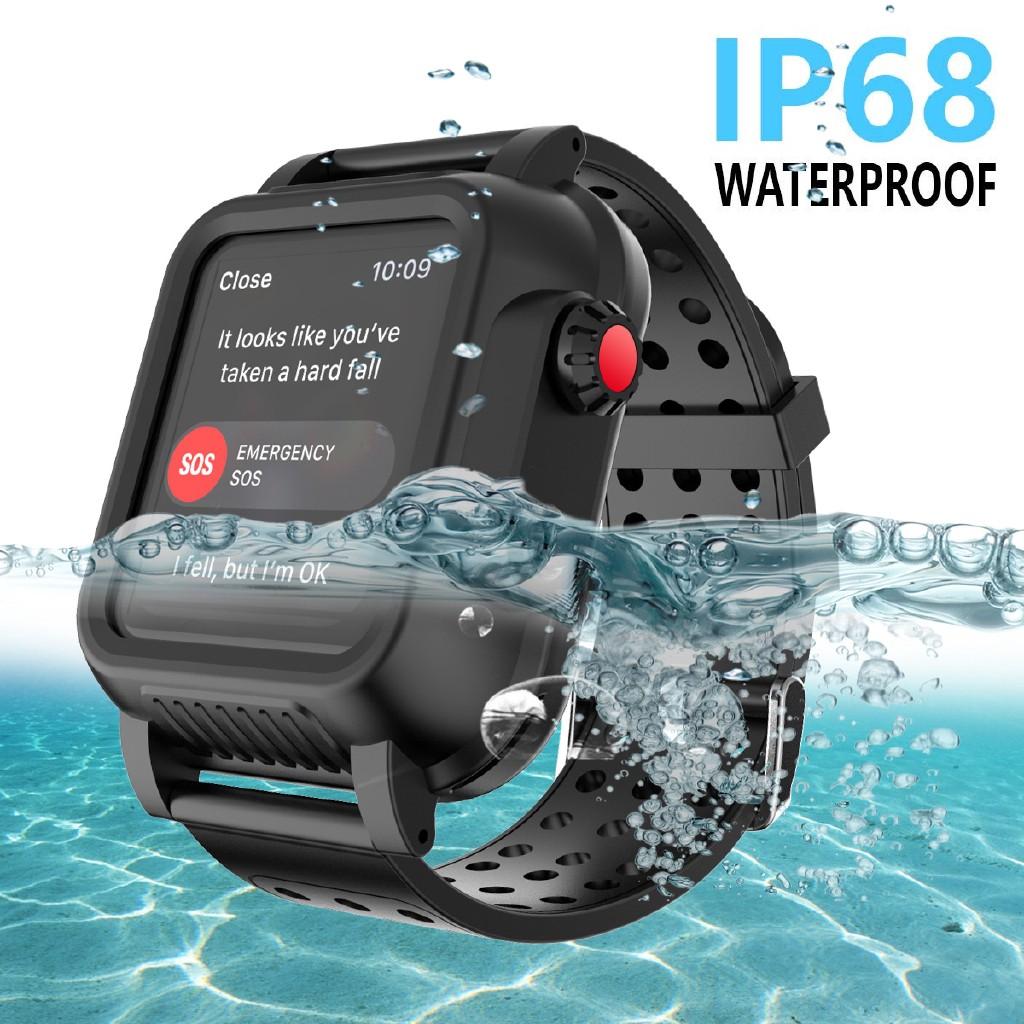 iWatch Series 5 6 SE 40mm 44mm Snorkeling Case for Apple Watch Series 1 2 3 38mm 42mm IP68 Waterproof Protective PC Watc