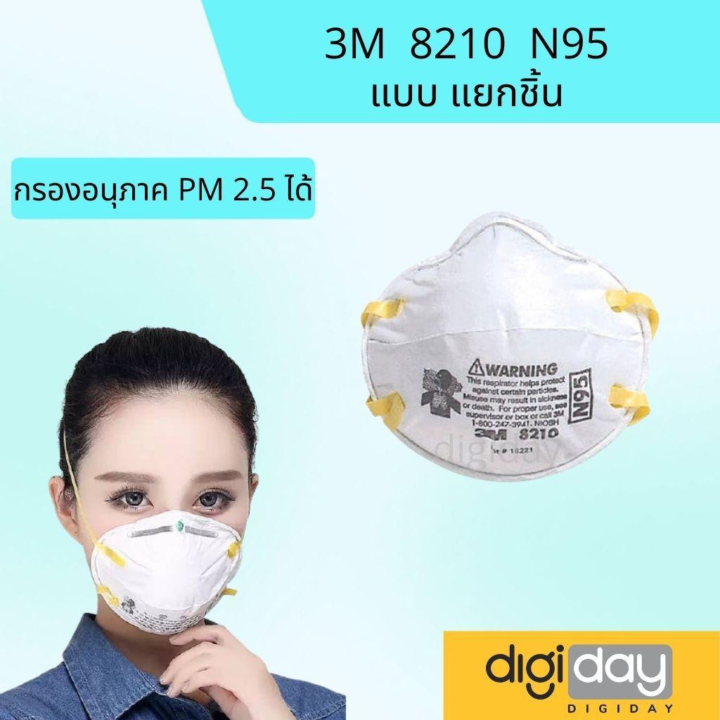 ✼♨พร้อมส่ง 3M ของแท้ หน้ากากป้องกันฝุ่น 8210 ,9105 vflex N95