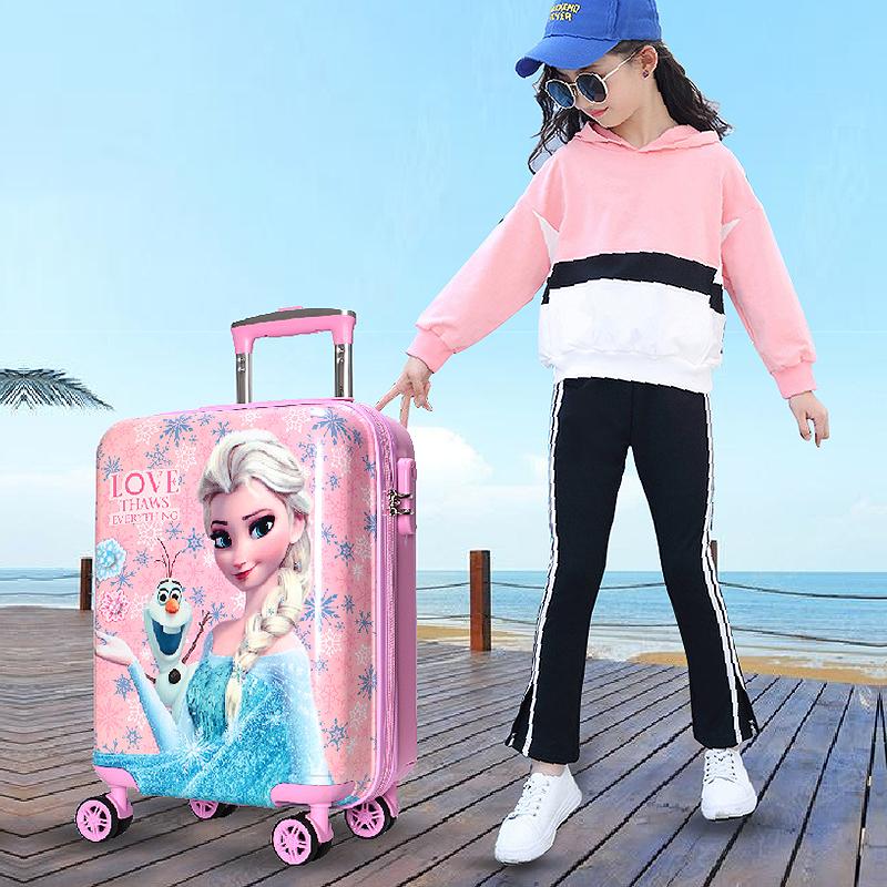 ✪Ρกระเป๋าเดินทางเด็ก  กล่องเดินทางDisney frozenเด็กกรณีรถเข็นหญิงAishaเจ้าหญิง16นิ้วกระเป๋าเดินทางเด็ก18นิ้วกระเป๋าเดินท