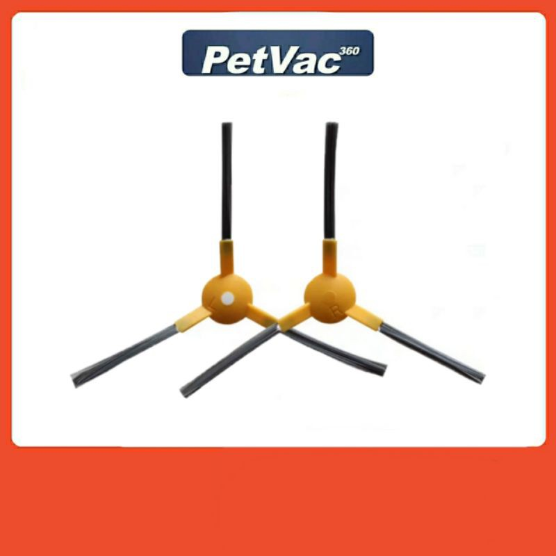 แปรงปัดข้างหุ่นยนต์ดูดฝุ่น รุ่น Petvac360 มีสองแบบให้