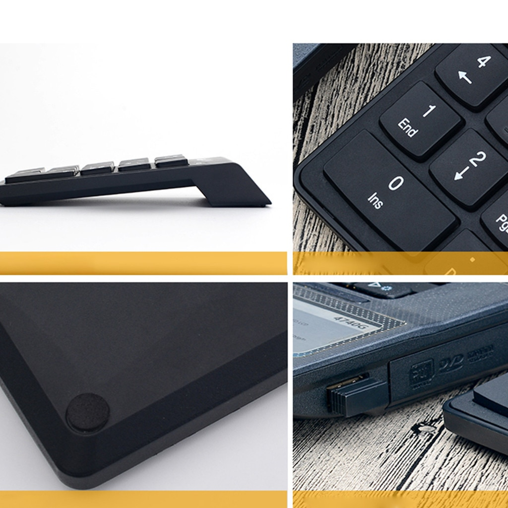 Small keyboard with number pad