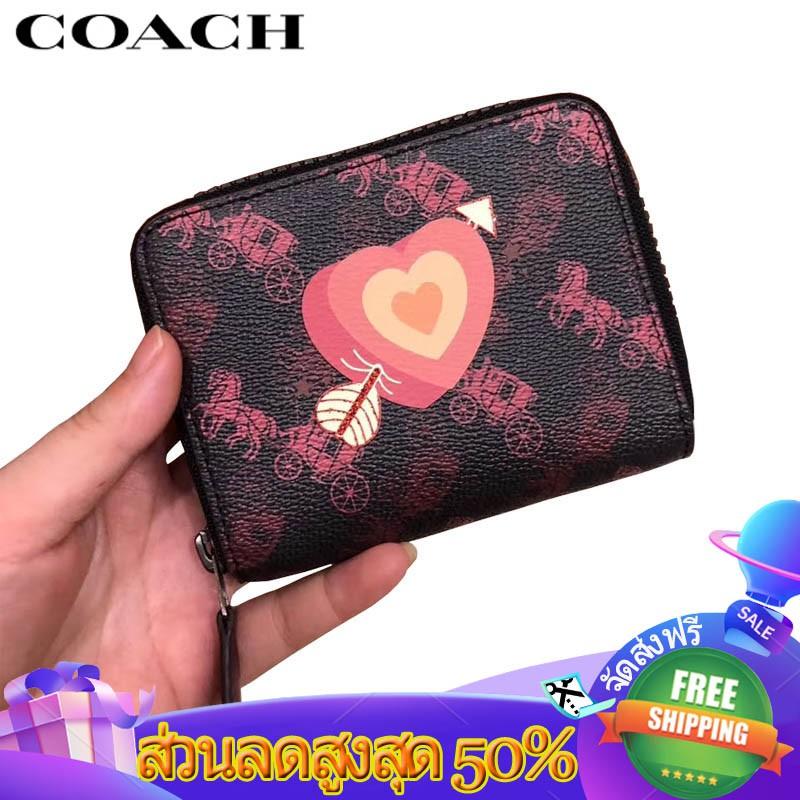 Coach กระเป๋าสตางค์ใบสั้น กระเป๋าสตางค์ กระเป๋าตัง กระเป๋าตังใบสั้น 86396