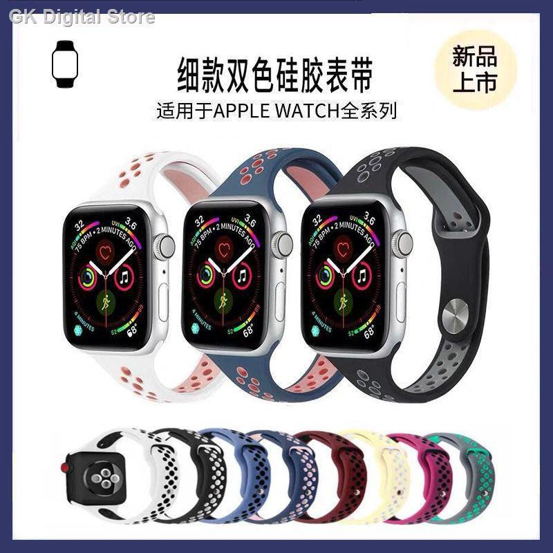 【อุปกรณ์เสริมของ applewatch】▧☈สาย iwatch ที่ใช้งานได้สายนาฬิกา Apple Applewatch สายนาฬิกา กีฬาซิลิโคนเอวเล็กสายนาฬิกา