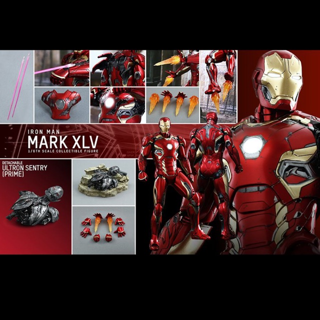 HOT TOYS 1/6 IRON MAN MARK XLV (DIECAST)