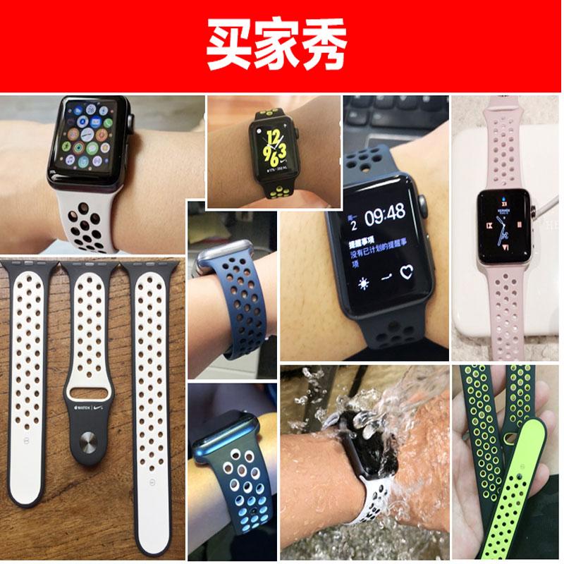 ℯㇻสายนาฬิกาสายนาฬิกา 20mmAPPLE WATCH Apple Watch พร้อม iwatch456se สายนาฬิกา Nike ของแท้38424044