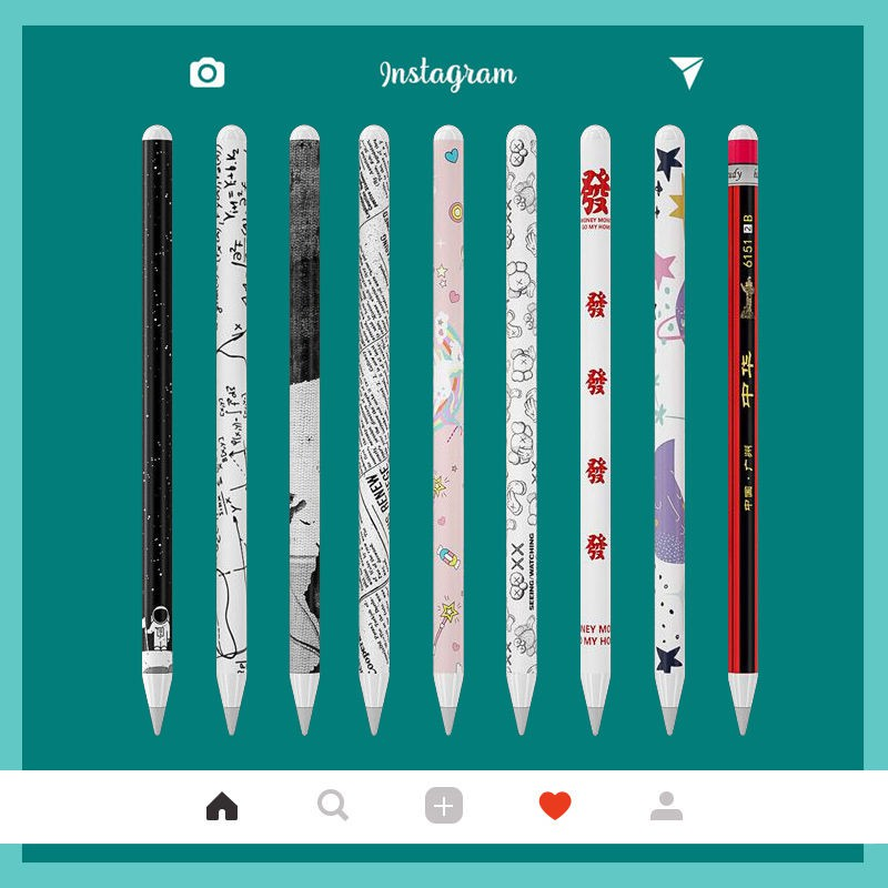 Apple Apple pencil sticker 2 รุ่นปากกาสไตลัสชุดปากกาบุคลิกภาพสติกเกอร์สีกันรอยขีดข่วน 1 แท็บเล็ต ipad ยี่ห้อ tide
