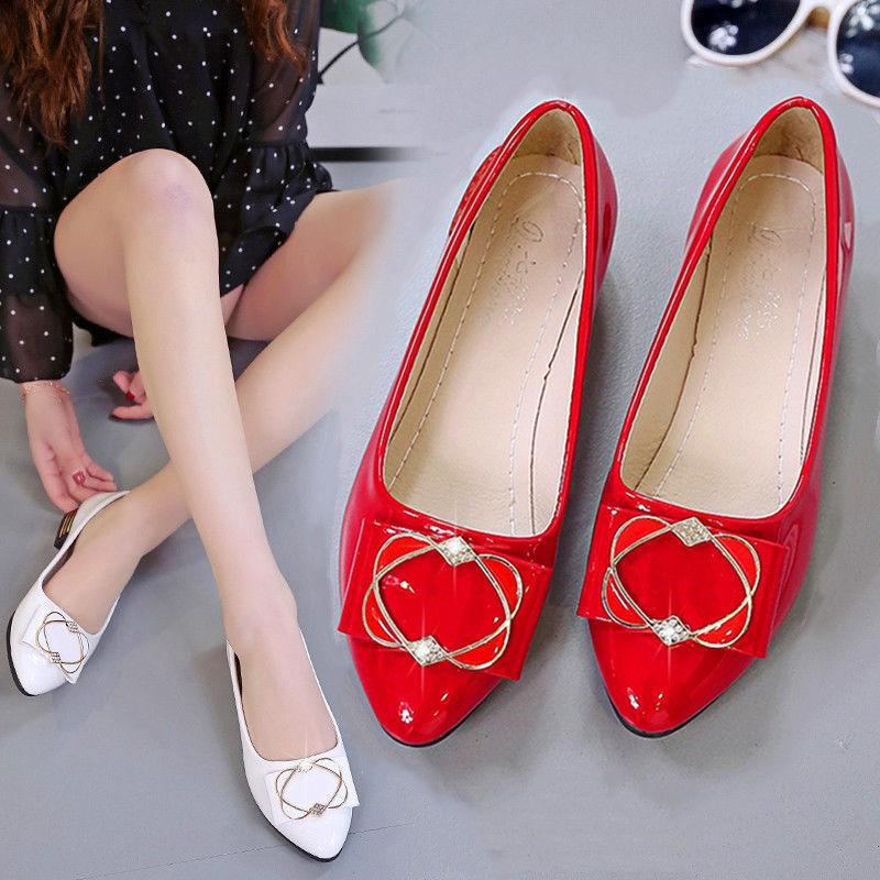 🌸🌵รองเท้าแฟชั่นผู้หญิง รองเท้าหัวแหลม รองเท้าลำลอง รองเท้าผู้หญิง รองเท้าคัชชู นิ่มมากไม่เจ็บเท้า❤️(บวกเพิ่ม1ไซส์)
