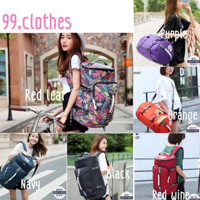 กระเป๋าเดินทางล้อลาก Luggage กระเป๋าเป้เดินทาง backpack มีลาย/ สีล้วน กันน้ำ/ไม่กันน้ กระเป๋าล้อลาก กระเป๋าเดินทางล้อลาก