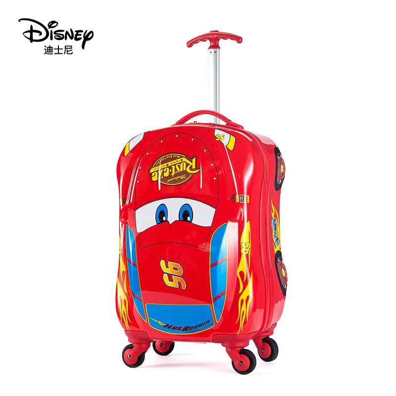 ㇰぎ กระเป๋าเดินทางล้อลากใบเล็ก กระเป๋าเดินทางล้อลากเด็กดิสนีย์รถเข็นกระเป๋าเด็กสามารถติดตั้งMcQueenการ์ตูนกระเป๋าเดินทางเ