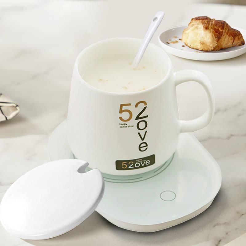 เครื่องอุ่นนม ถ้วยอุ่น 55 องศาสำนักงานอุ่นที่รองแก้วเครื่องทำอุณหภูมิคงที่โดยอัตโนมัติร้อนกาแฟนมสิ่งประดิษฐ์ฐานความร้อน