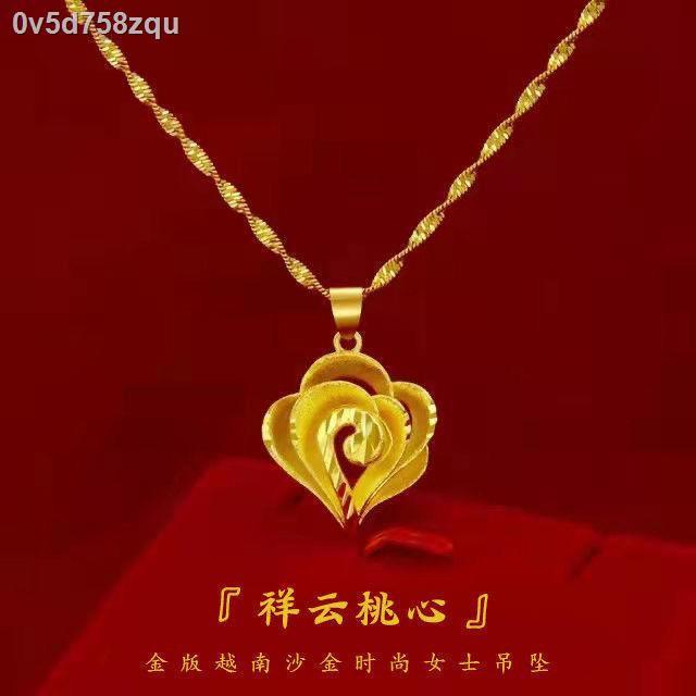 ราคาถูก ✎▫ของแท้ จี้ทองคำแท้พันฟุตโซ่กระดูกไหปลาร้าของผู้หญิงแฟชั่นสร้อยคอทองคำแท้สำหรับวันแม่สร้อยข้อมือแฟน