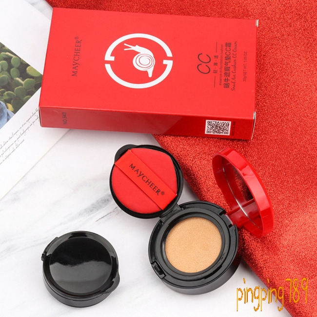 Air Cushion BB Cream Snail Cover Concealer CC Moisturizing Oil Control Foundation Cream