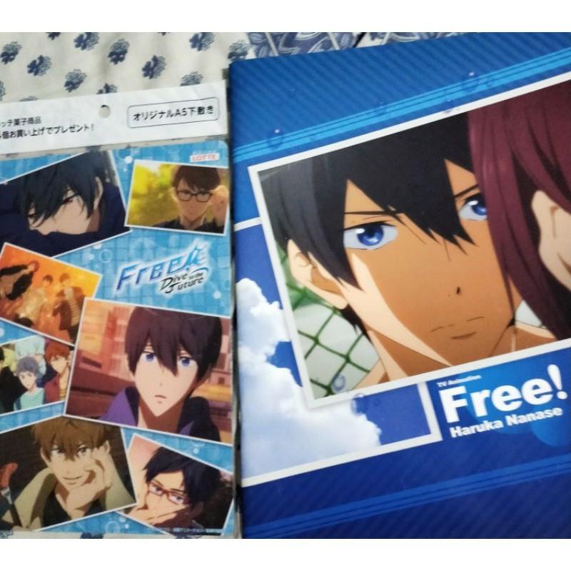 JAPAN FREE! ANIME free ลิขสิทธิ์แท้ สมุด โปสเตอร์ พลาสติก รูปภาพ อนิเมะ ฟรี หนุ่มนักว่ายน้ำ Postcard Photo Books