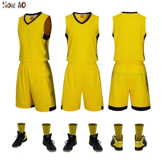 HOWE AO Personality  Men Basketball Jerseys Sets Team Uniforms Sports Kit Shirts Shorts Suits Breathable Customized Prin