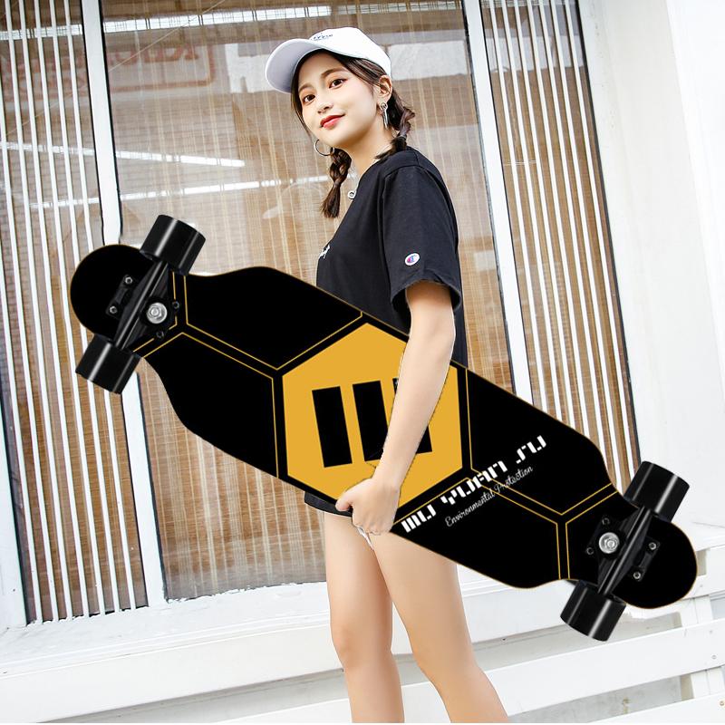 สเก็ตบอร์ด 80cm สเก็ตบอร์ดผู้ใหญ่ สเกตบอร์ด สเก็ตบอร์ดเด็ก สเก็ตบอร์ดยาว สำหรับเริ่มต้นและทั่วไป Skateboards Cometobuy.