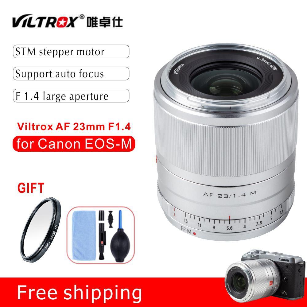 Viltrox 23mm f1.4 STM Auto Focus APS-C Prime Lens สำหรับกล้อง Canon EOS-M Cameras M10 M50 M100 M5 M6 MarkII