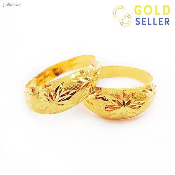 ราคาต่ำสุด№Goldseller แหวนทอง ลายโปร่งจิกทราย ครึ่งสลึง คละลาย ทองคำแท้ 96.5%
