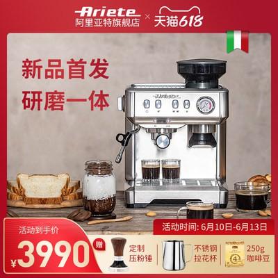 ⅟♋กาแฟDelong Ariete Ariat เครื่องชงกาแฟกึ่งอัตโนมัติเต็มรูปแบบเครื่องทำฟองนมอบไอน้ำในครัวเรือนขนาดเล็กกึ่งพาณิชย์