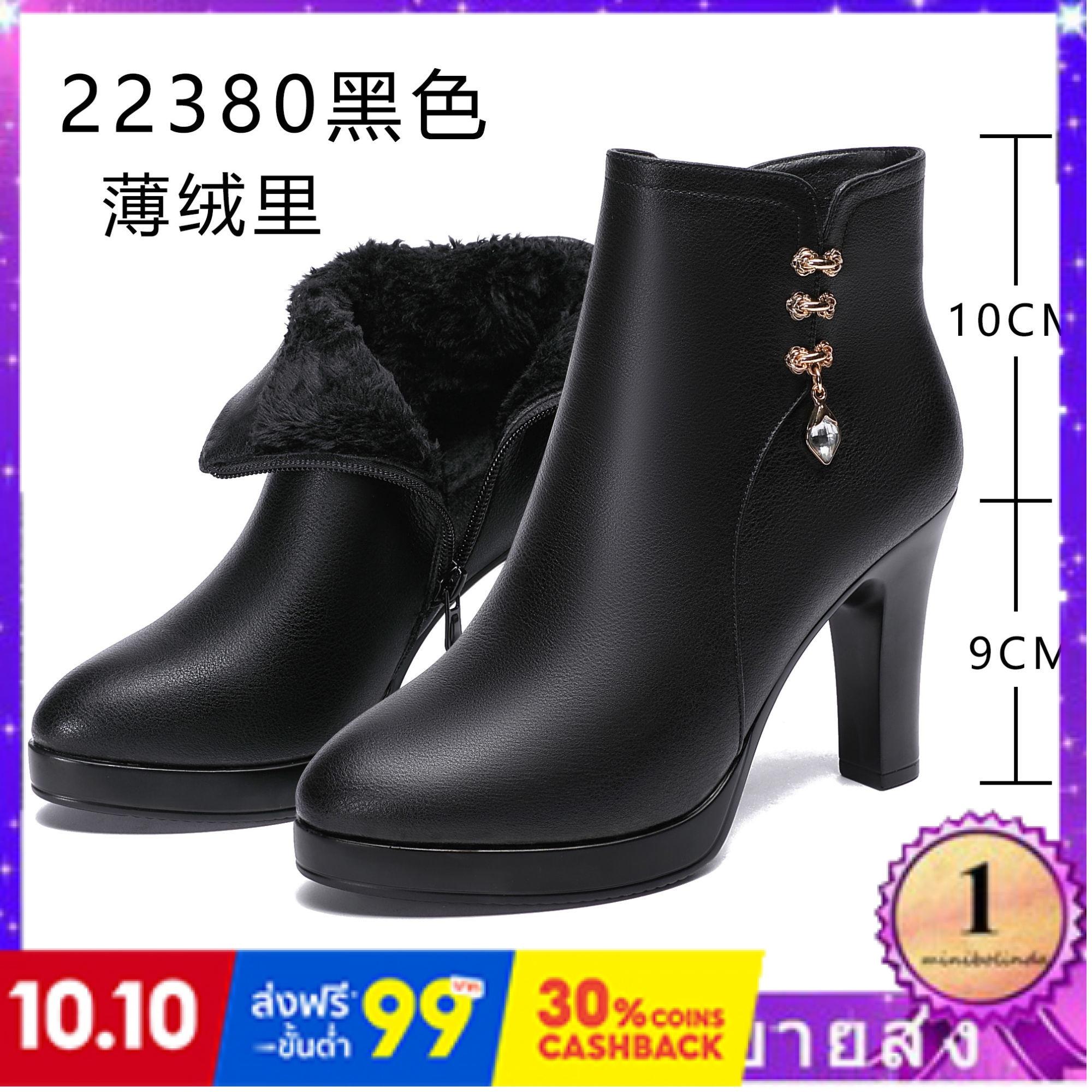 ⭐👠รองเท้าส้นสูง หัวแหลม ส้นเข็ม ใส่สบาย New Fshion รองเท้าคัชชูหัวแหลม  รองเท้าแฟชั่นใหม่ของผู้หญิงรองเท้าผ้าฝ้ายรองเท้า