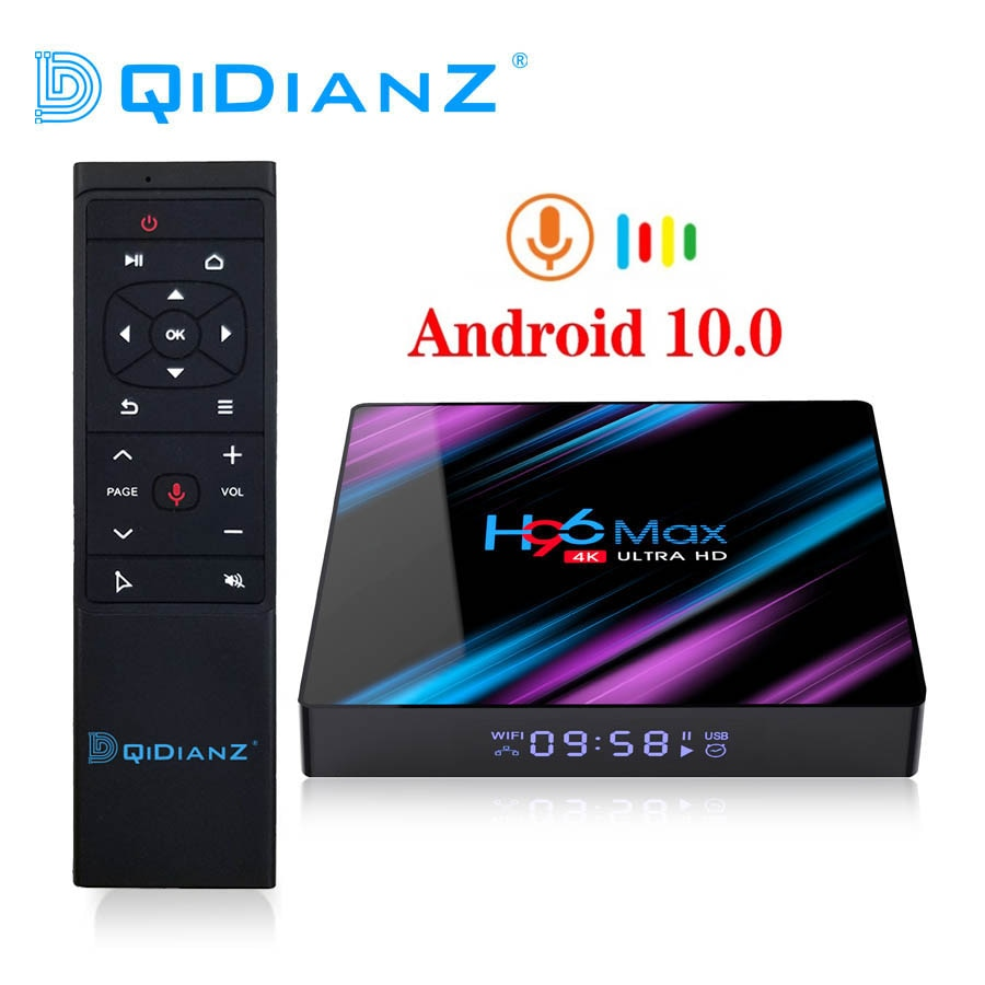 Android 10 Smart TV Box H96 MAX RK3318 4K Youtube Media Player H96MAX Set Top Box PK T95 X88 PRO10