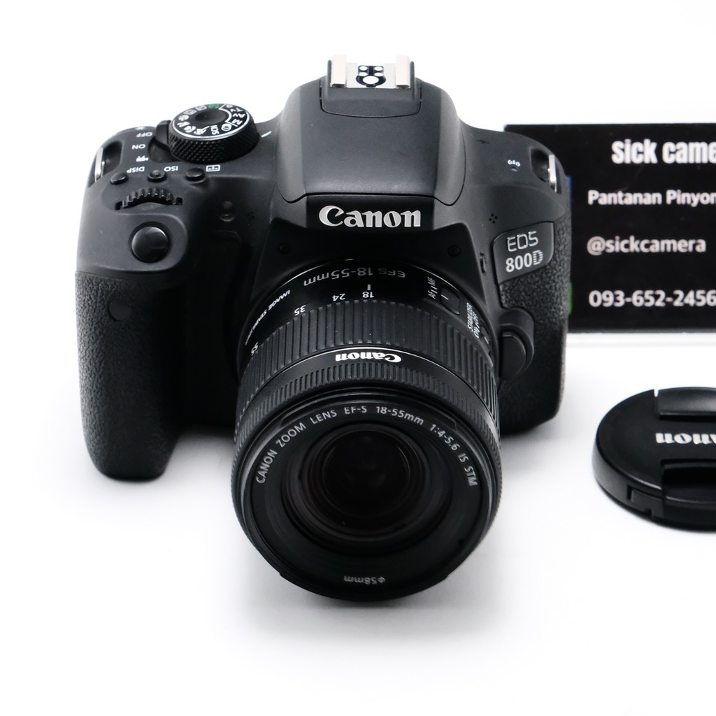 Canon 800d + lens 18-55mm f3.5-5.6 STM (มือสอง)