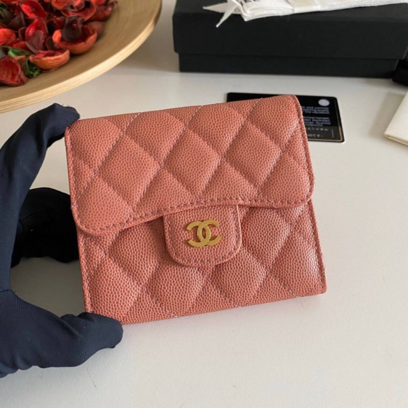 Chanel Classic small wallet cavier skin Original