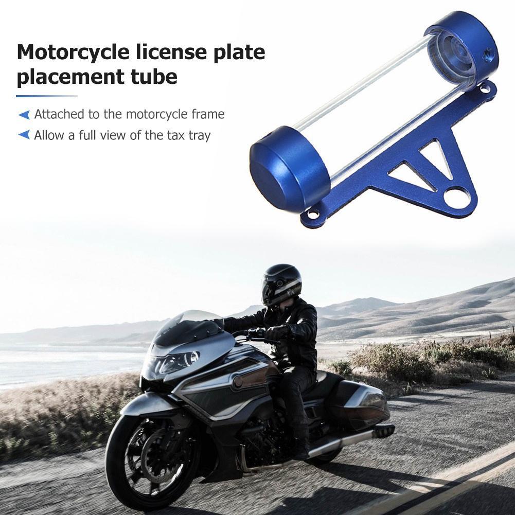 Keenso Universal Motorbike Secure Tax Disc Tube Cylindrical Holder Frame Waterproof Motorcycle Tax Disc Tube