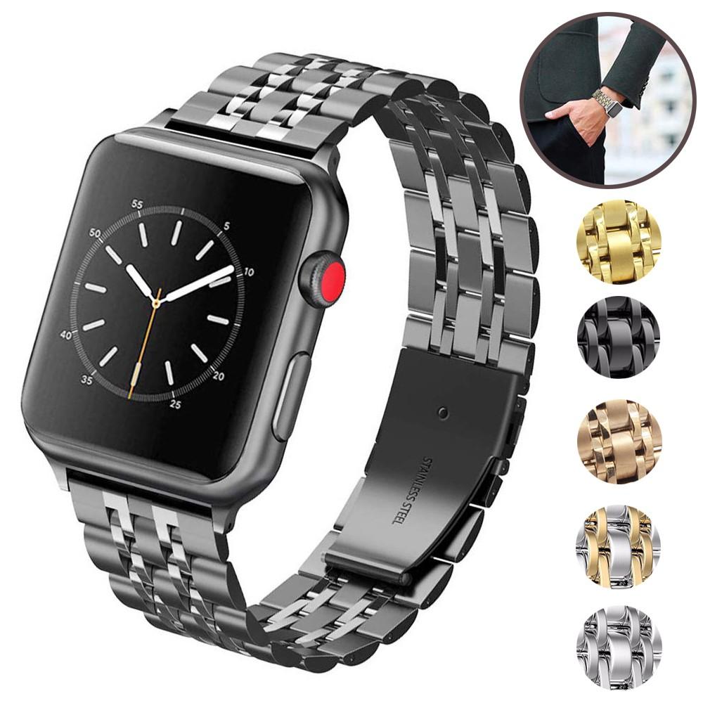 สาย applewatch สายนาฬิกา applewatch Stainless steel watch band for apple watch series 5 /4/3/2/1 iwatch strap 38/40/42/4