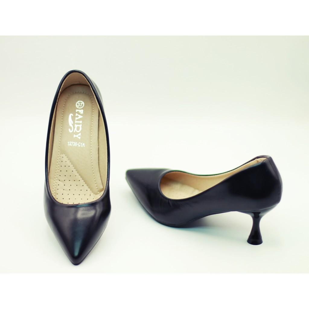 รองเท้าส้นสูง@รองเท้าส้นสูงผู้หญิง@ รองเท้า 12730 รองเท้าส้นสูง รองเท้าคัชชูส้นสูง รองเท้าคัชชูสีดำ  2.5 นิ้ว  FAIRY 127